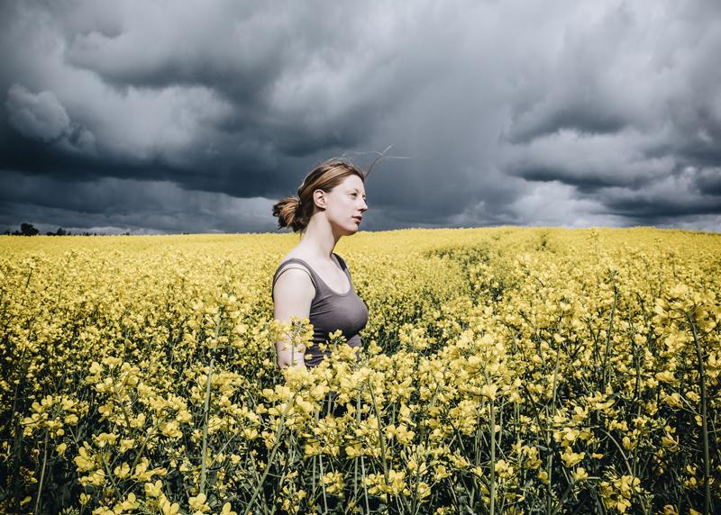 rapeseed field portrait