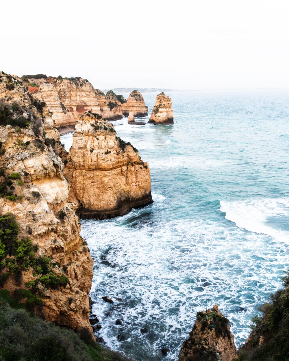 Algarve coast Lagos ponte de piedade