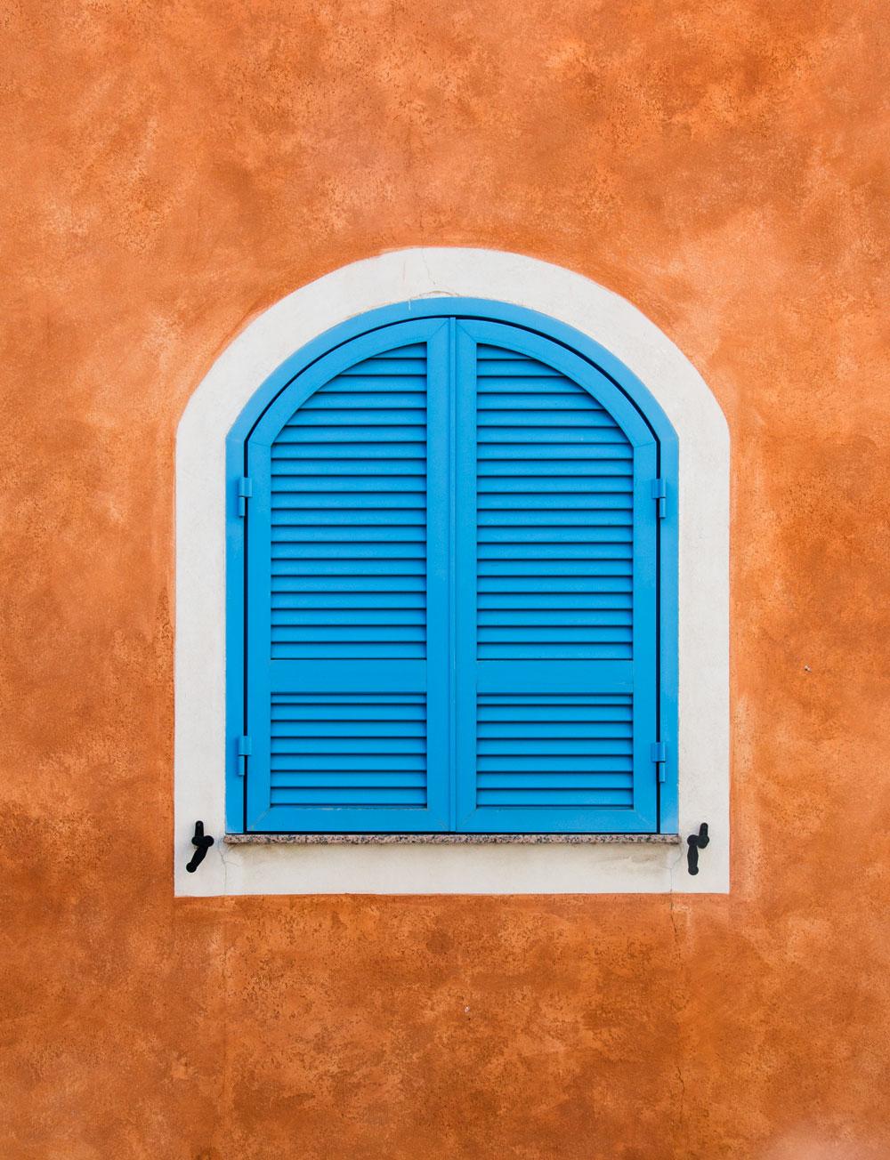 Korsika Cargese vindue