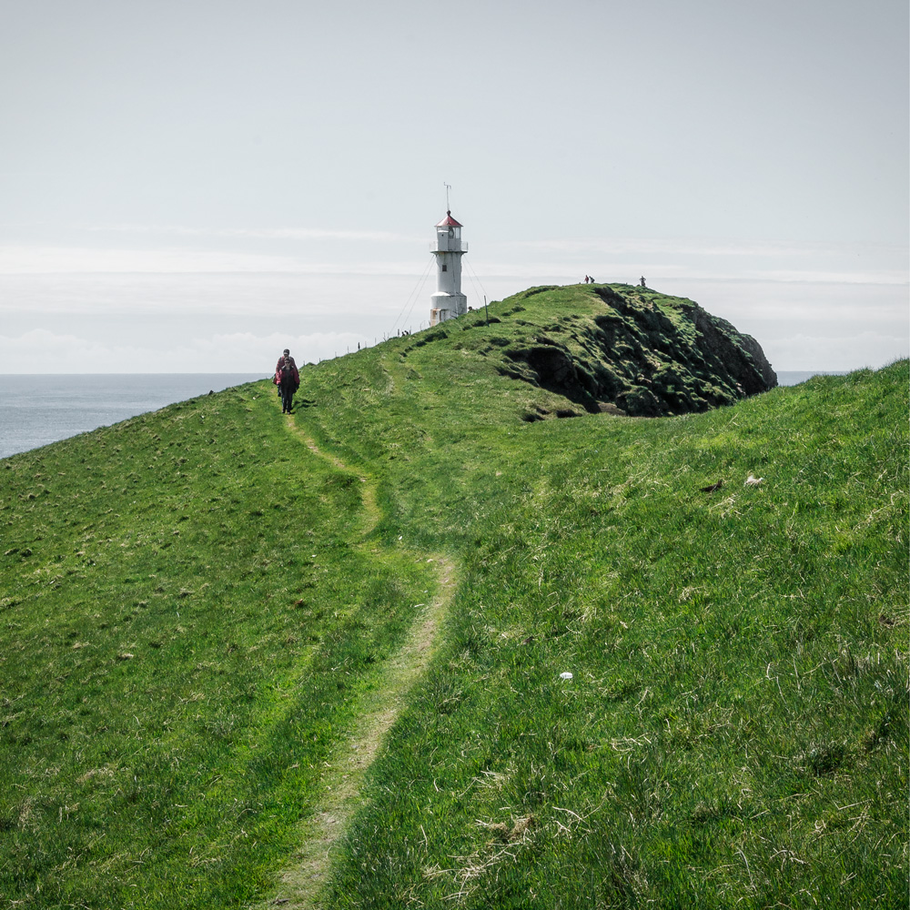 faroe islands mykines trail lighthouse