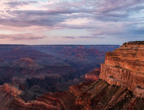 Grand Canyon sunset at Mohave Point