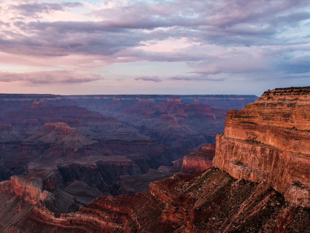 Grand Canyon solnedgang ved Mohave Point