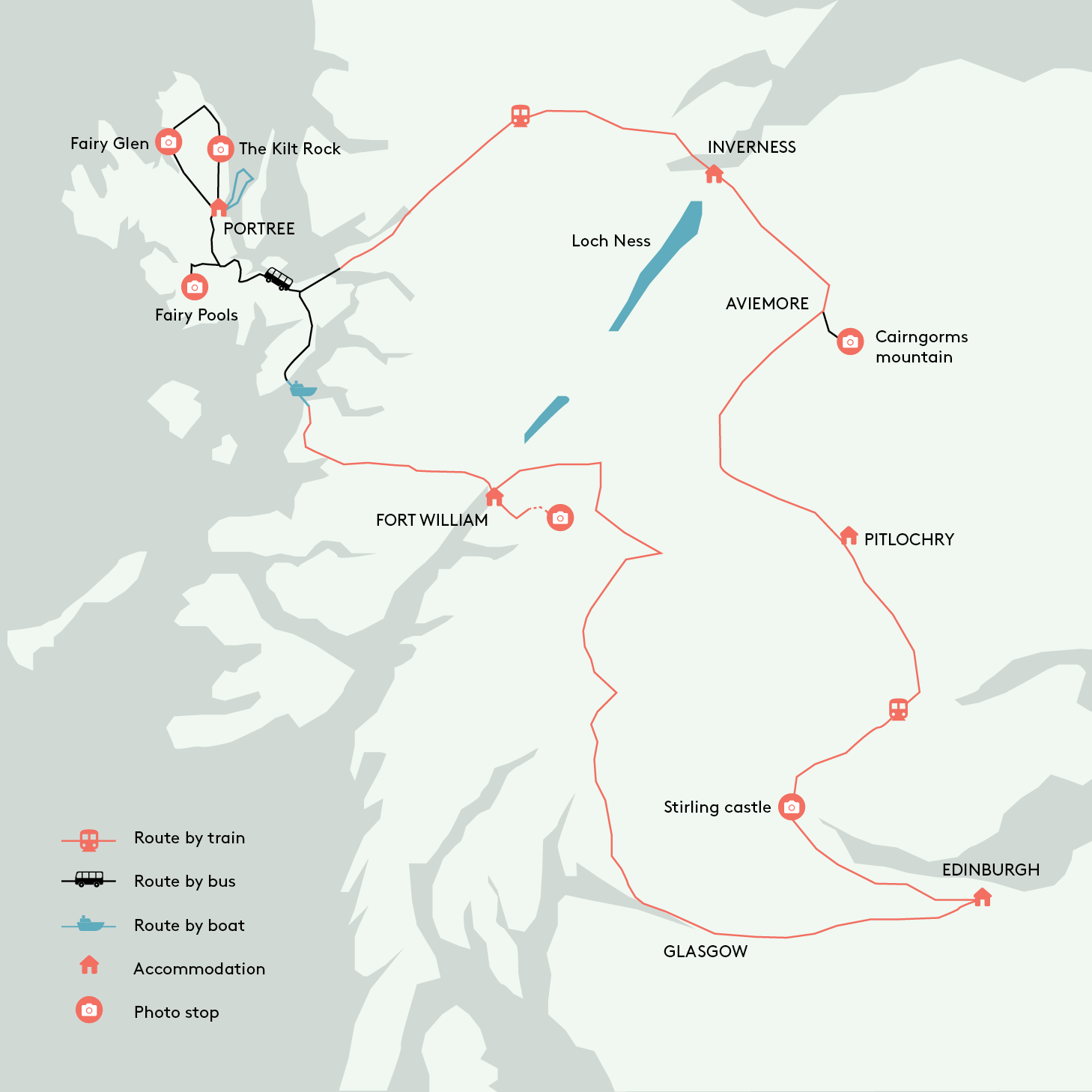 Train Routes In Scotland Map.Scotland And Isle Of Skye By Train A Travel Guide Sarahinthegreen
