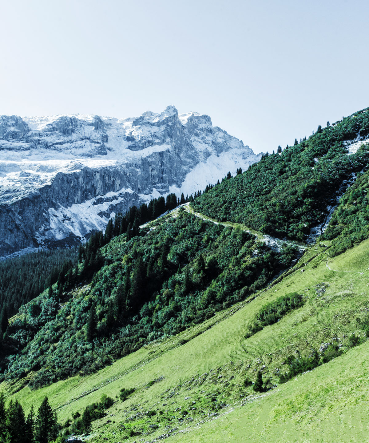 A wild hike in the Montafon mountains in Austria