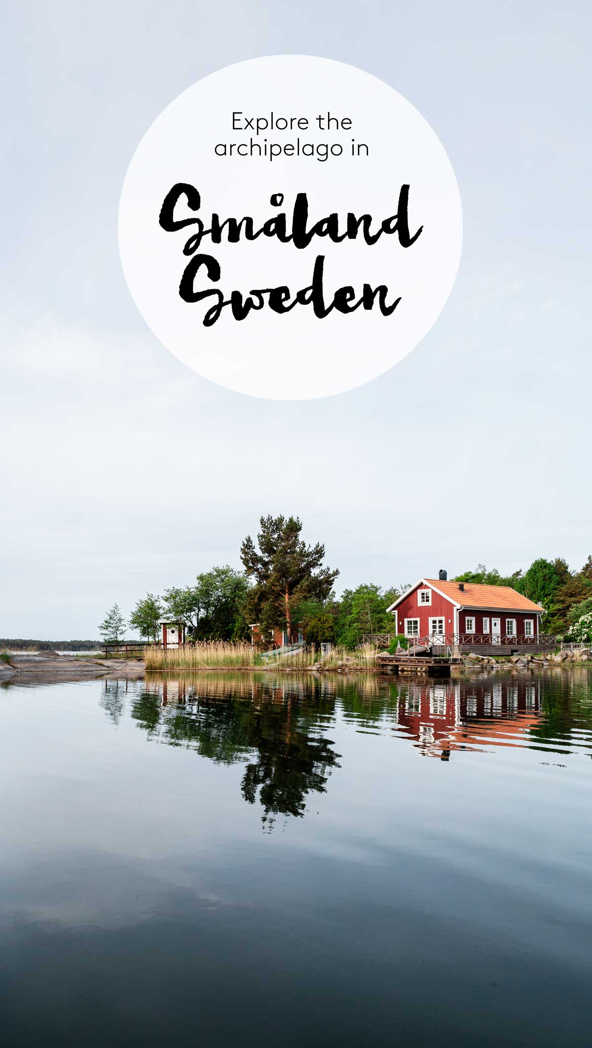 Exploring the archipelago in Småland Sweden