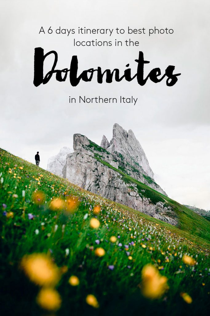 Dolomites itinerary photo locations