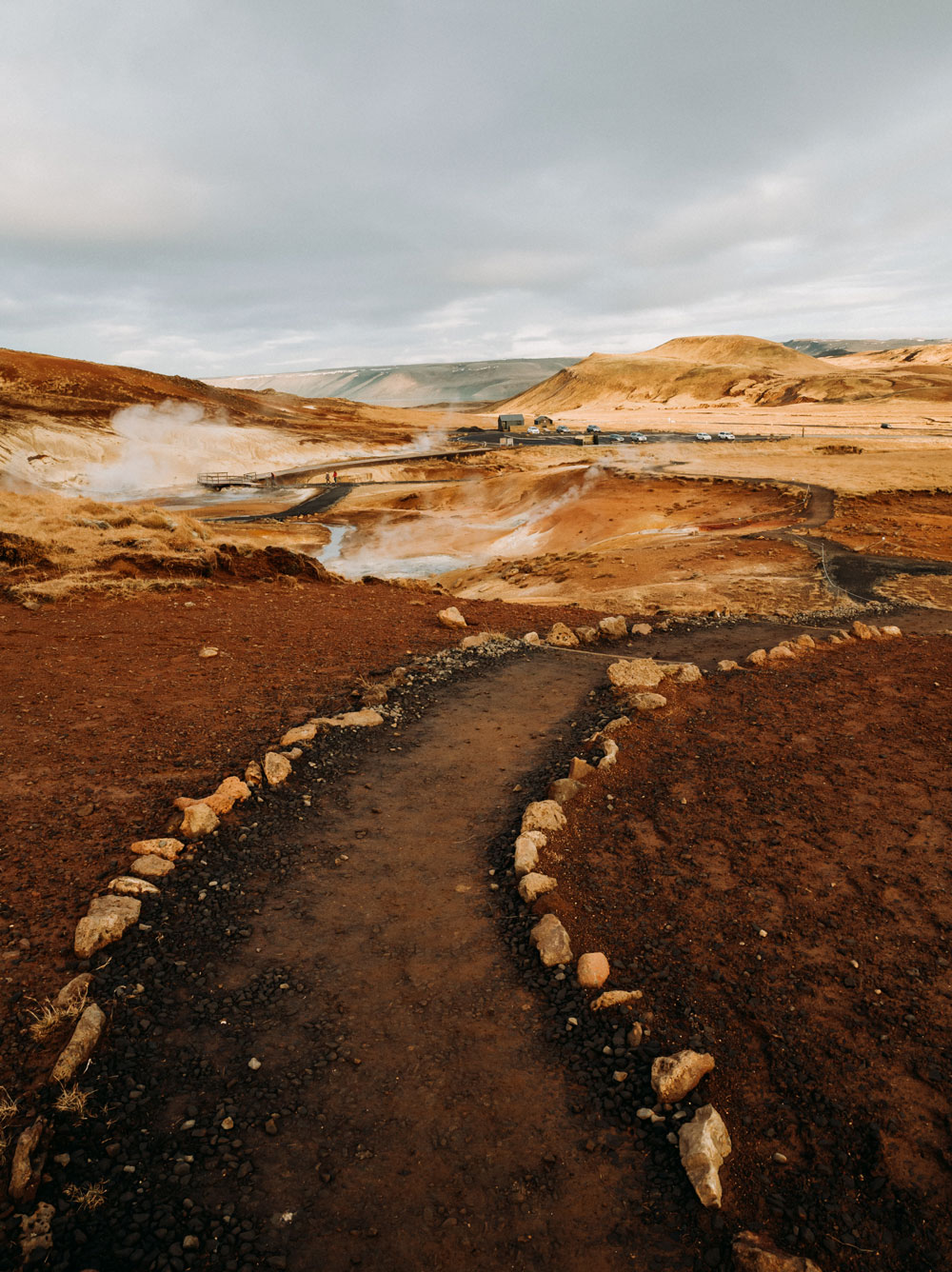 Seværdigheder på Island om vinteren - Seltun