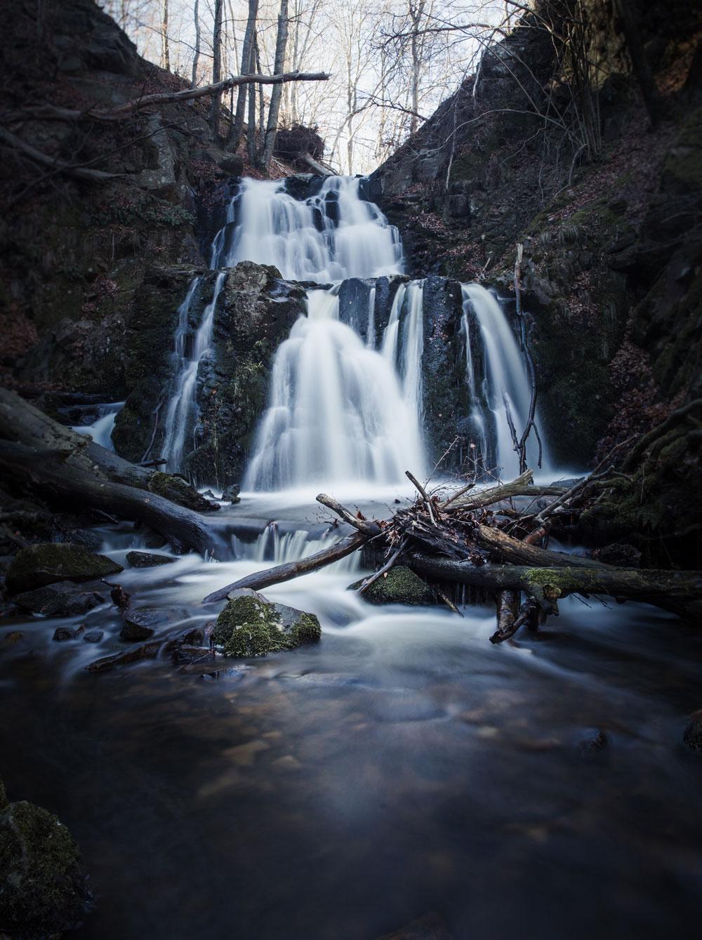 Forsaka vandfald Skånes højeste vandfald