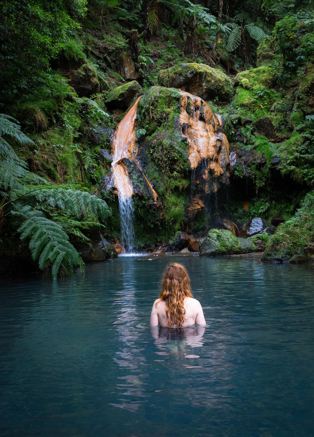 Azores itinerary to São Miguel - Caldeira Velha hot spring