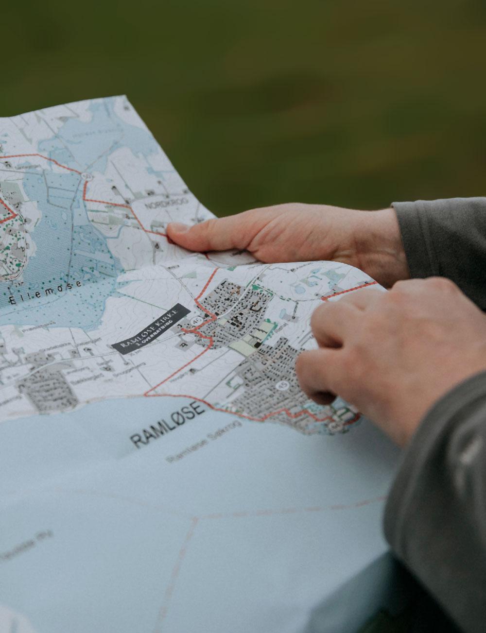 Vandretur på Sjælland: Kort