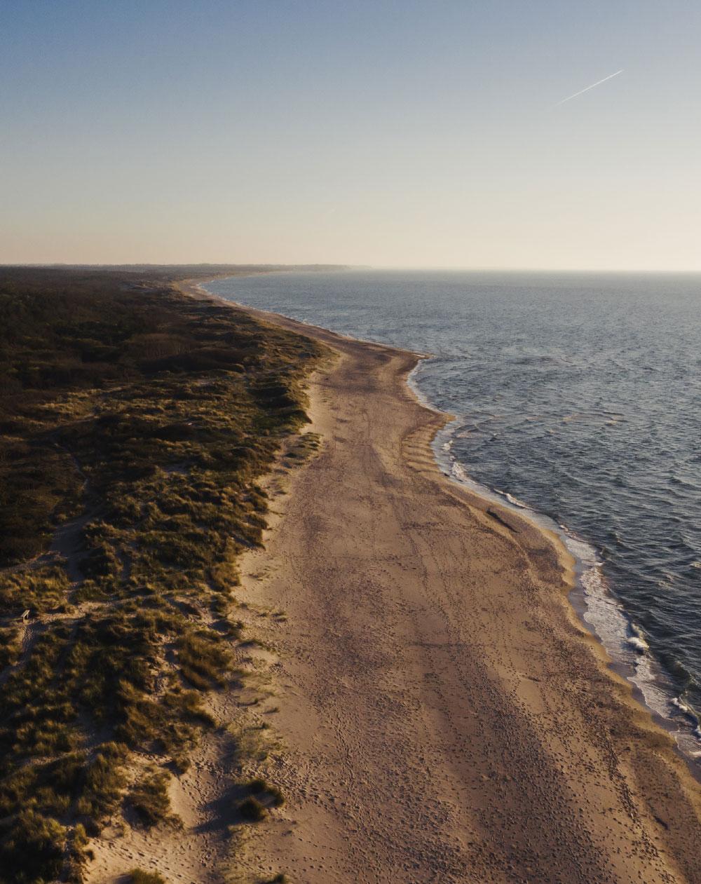 Vandretur på Sjælland: Nordkysten med drone