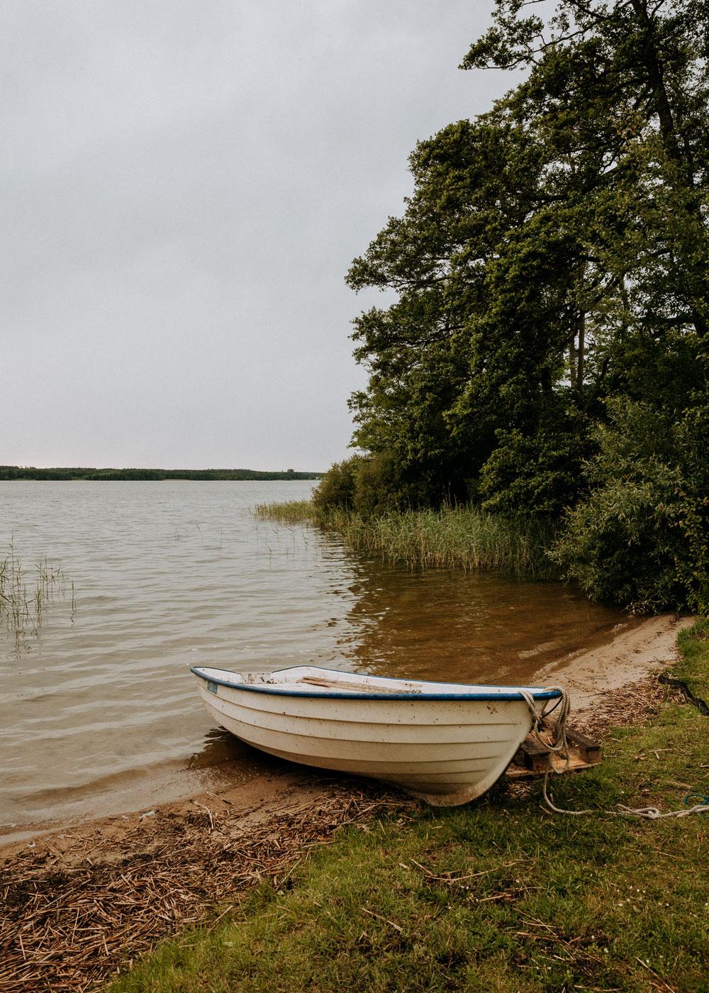 Boat at Bäckaskog Castle in Skåne