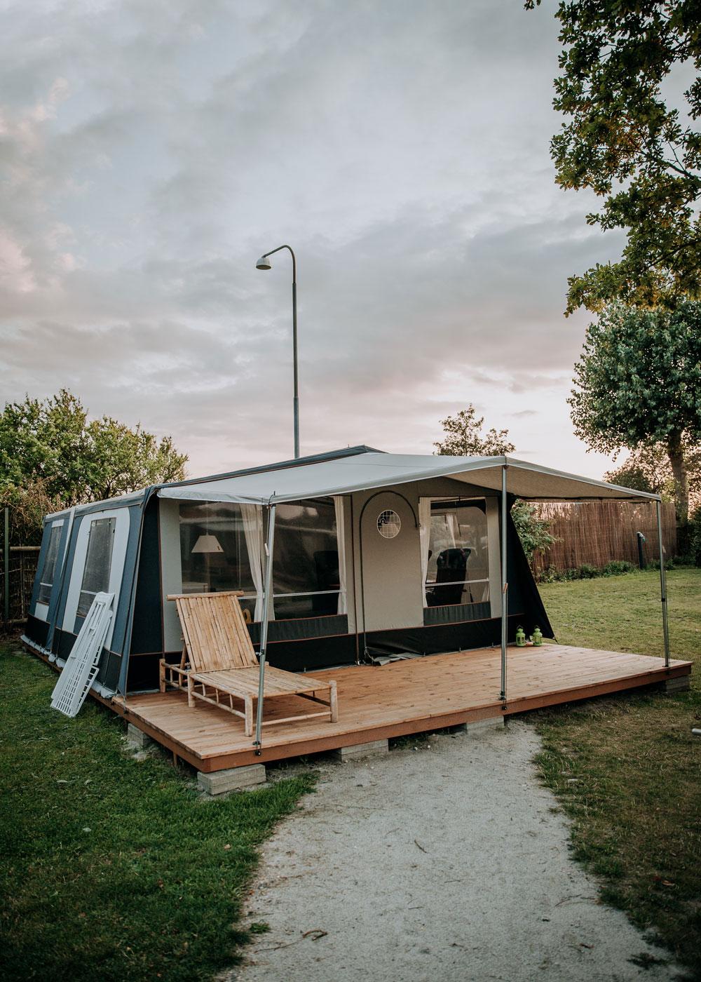 Glamping på Bogense Strand Camping