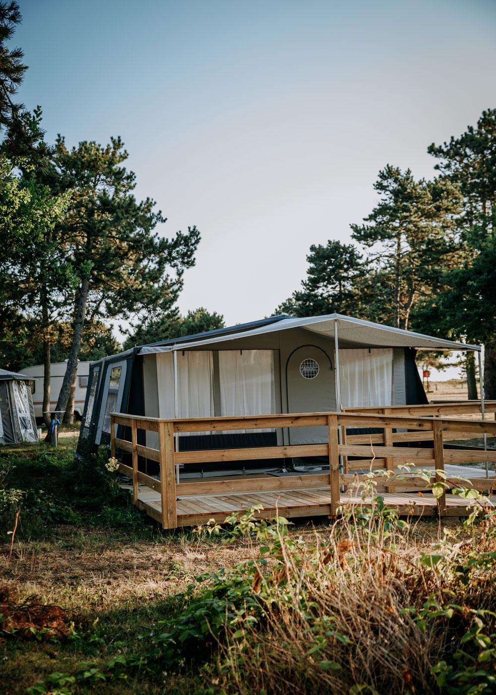 Flyvesandet Camping - glamping-telt