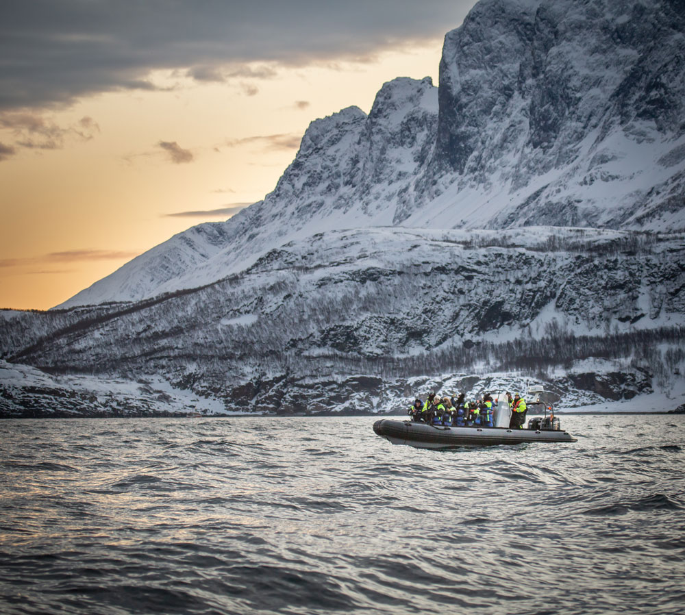 RIB boat trip Skjervoy