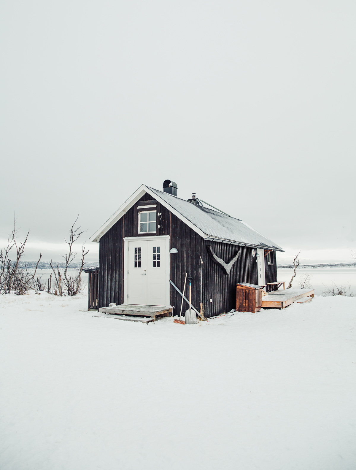 Sauna ved søen Torneträsks bred
