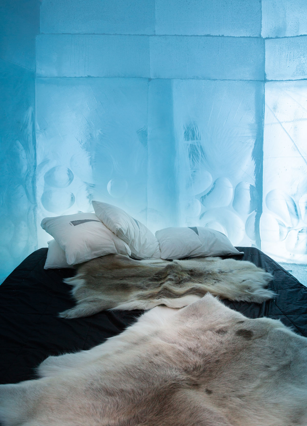 overnatning på ishotellet i Kiruna