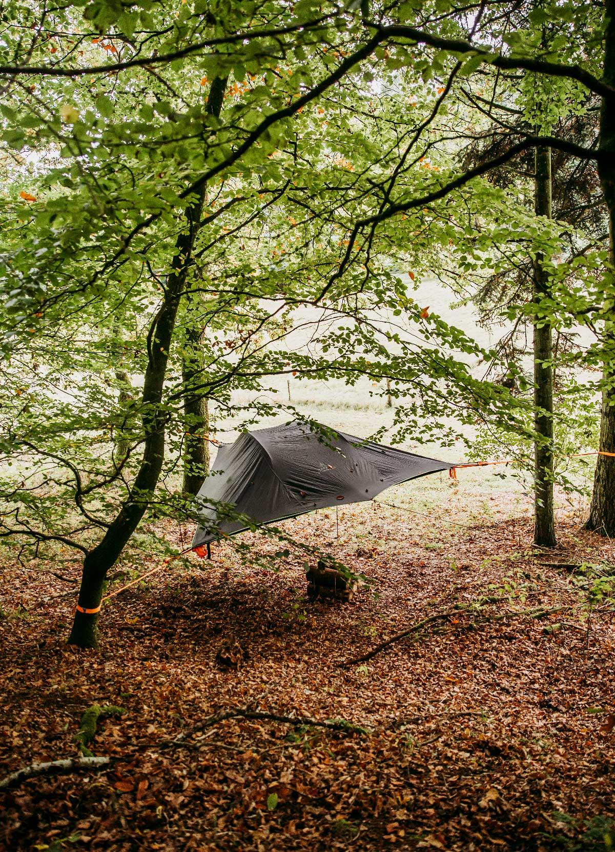 Naturophold i Rold Skov - overnatning i hængende telt