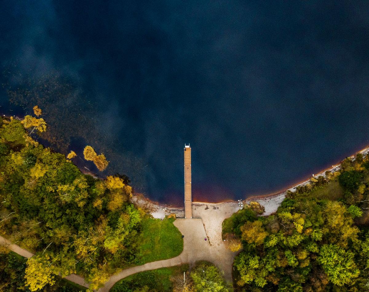 Store Økssø med drone